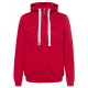 Ladies sweat jacket Dream, 2XL, red