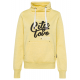 Damen Tube Sweatshirt City Love, gelb melange, sor