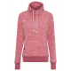 Ladies fleece sweater melange, pink melange, sorti
