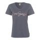 Damen T-Shirt Summer Love, anthrazit, sortierte Gr
