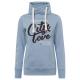 Damen Sweatshirt Tube City love, hellblau, sortier