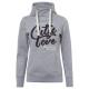 Damen Sweatshirt Tube City love, graumelange, sort