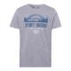 Camicia da uomo con stampa Sydney Harbour, grigio