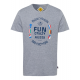 Camicia da uomo con stampa Fun Aussie, grigio mela