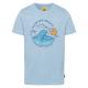 Camicia da uomo con stampa oceano Wave Breaker, az