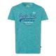 Messieurs T-Shirt Pacific Soul, mélange de pétrole