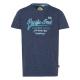 Messieurs T-Shirt Pacific Soul, mélange bleu, tri