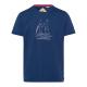 Messieurs T-Shirt Club de voile, marine, tailles a