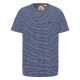 Messieurs T-Shirt Rayures voile, marine / blanc, a
