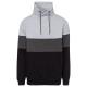 Herren Sweatshirt Tube Colour blocking, schwarz/gr