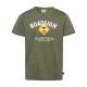 Herren Logo T-Shirt Raute, L, khaki
