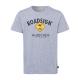 Herren Logo T-Shirt Raute, 4XL, grau melange
