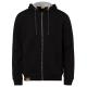 Men's sweat jacket hoodie, 2XL, black