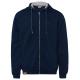 Men's sweat jacket hoodie, 2XL, navy