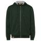 Herren Sweatjacke Hoodie, XL, dunkelgrün