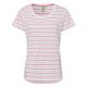 Donne T-Shirt estate a strisce, S, rosa corallo