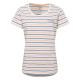 Damen T-Shirt striped summer, XL, blau/apricot