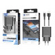 Charger With Micro Usb Cable 2.4A 1M 2Usb Black