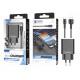 Töltő mikro USB kábellel 2.4A 1M 2Usb fekete
