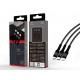 USB kábel 3In1 2A 1.2M fekete