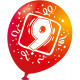 Happy Birthday 9 balloons, 6 balloons (22.8 cm)