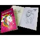 Livre de coloriage licorne, 14 x 21cm, VE 24