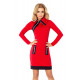 JUSTYNA dress with three locks - red