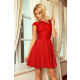 157-8 MARTA dress with lace - RED