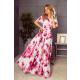 194-2 Vestido largo con escote español - flores
