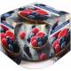 Vela perfumada en papel de aluminio y vidrio Fruta