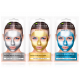 Face masks DETOX Blue, Gold, Silver
