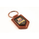 Football - FCB Premium Leather Brown Keychain