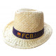 Football - Chapeau de paille FCB Small