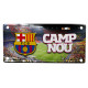 Fussball - FCB Camp Nou Metallplatte