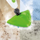 CLEANmaxx steam broom 5in1 1500W lime green / whit