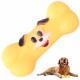 Jouet pour chien anneau de dentition grinçant en c