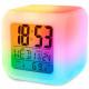 Réveil lcd thermomètre caméléon lumineux