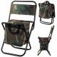 Chaise de pêche touristique, sac camouflage, pliab