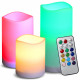 Kerzen, Kerzen, LED Kerze RGB Fernbedienung 3 Stk.
