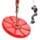 Garden swing for children, round disc flower
