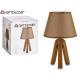 lamp ceramic tripod brown screen
