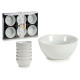 set of 6 round white porcelain saucers