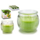 scented candle jar fluted glass fusion