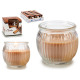 scented candle glass fluted cinnamon jar