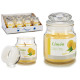 jar candle with small lid lemon
