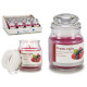 jar candle with lid small berries wild