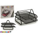 black metal tray grate 2 shelves