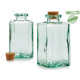 square bottle recycled glass 1000ml