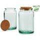 recycled glass jar medium round