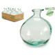 recycled glass organic bottle